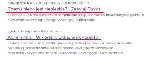 Tag title w wyszukiwarce Google