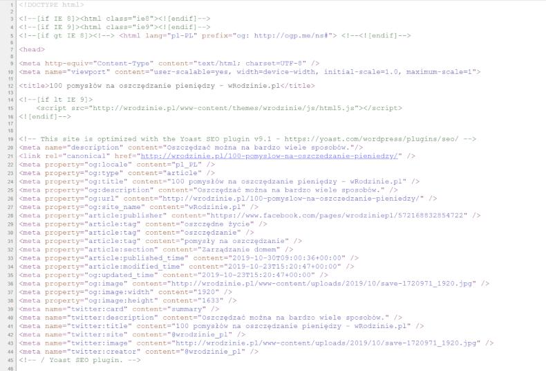 Podgląd kodu źródłowego