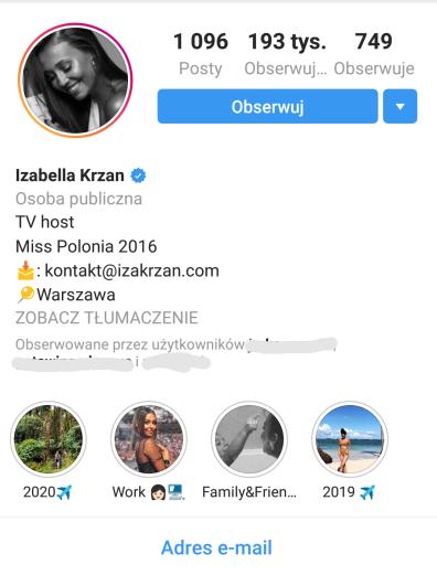 Przykładowe bio na instagramie