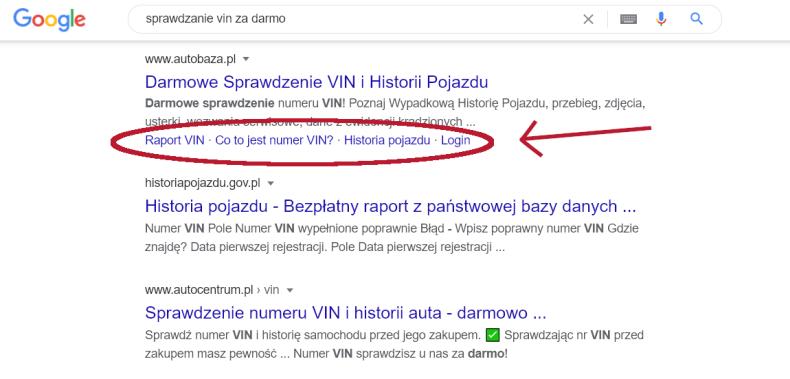 Spis treści w wynikach Google