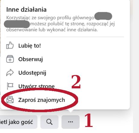 Jak zaprosić znajomych do polubienia strony na fb
